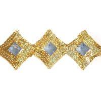 Square/Diamond Shape Sequin Trim