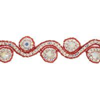 Beaded Crystal Swirl 38mm
