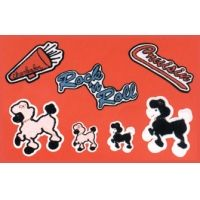 Chenille Poodle Patches