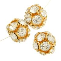 Rhinestone Round Beads 8mm