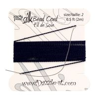 Silk Bead Cord with Needle