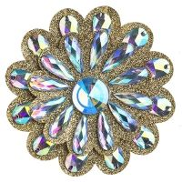 Glitter Flower with Stones