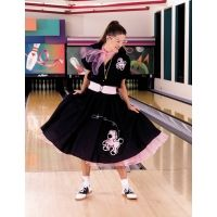 Poodle Skirt Outfit Black and Pink