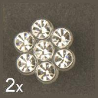 1763 - Crystal Flower Button