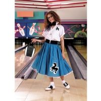 Poodle Skirt Outfit Turquoise and White