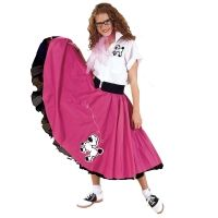 Poodle Skirt Outfit Pink and White